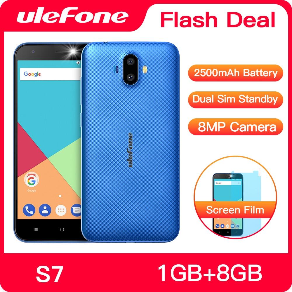 Фото. Ulefone S7 1 ГБ + 8 ГБ смартфон 5.0 дюймов IPS HD Дисплей Android 7.0  двойная камера 3G телефон