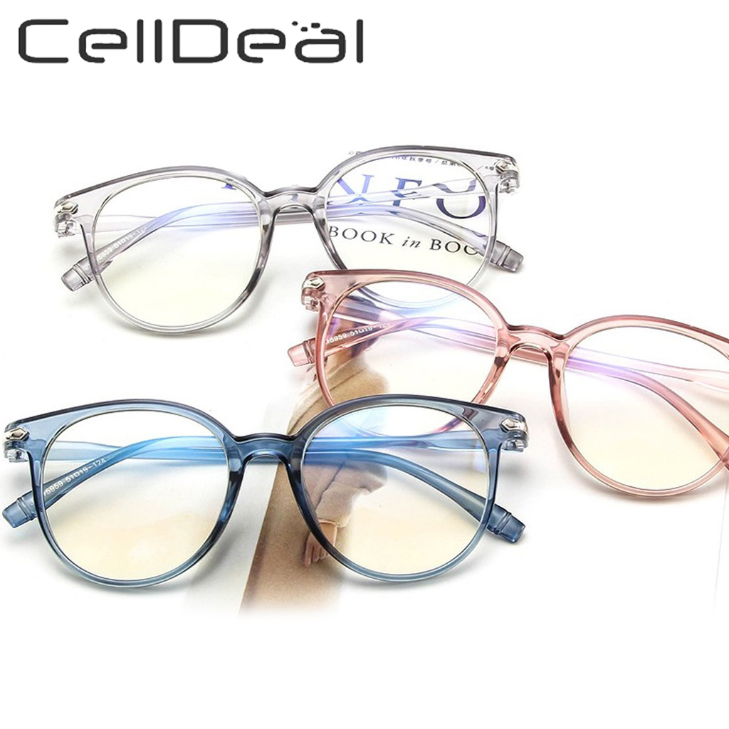 5 Colors Clear Jelly Pink Glasses Frame For Women Oversized Solid Color Super Cute Spectacles Transparent Clear Lens Eye Glasses