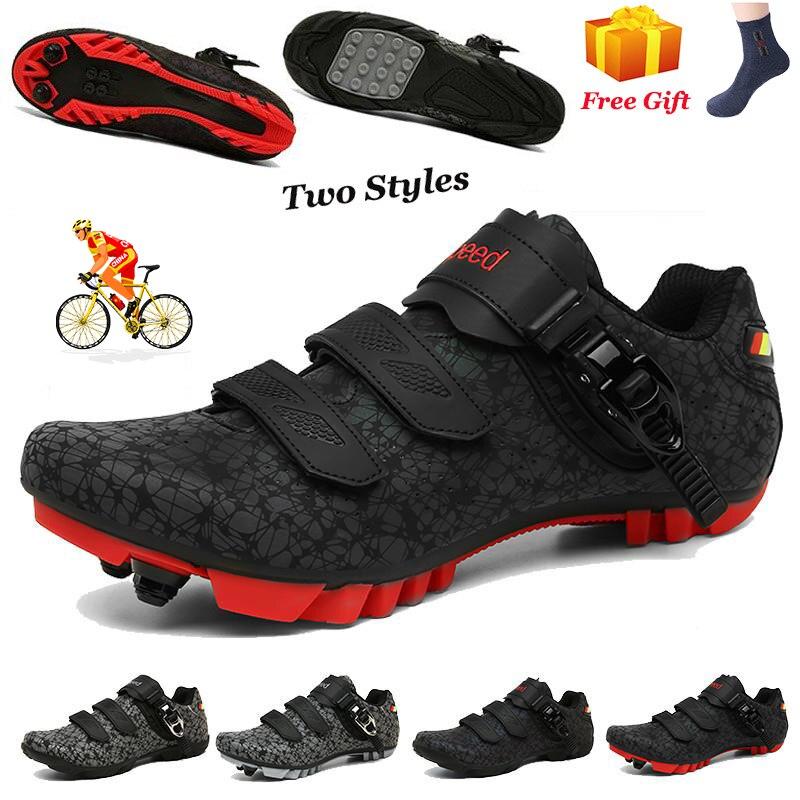 Кроссовки велосипедные унисекс, Нескользящие, самоблокирующиеся, для езды на горном велосипеде, спортивная обувь для мужчин и женщин