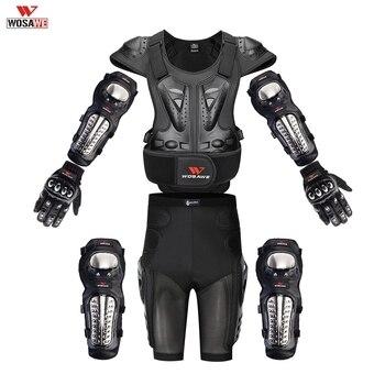 WOSAWE Mens Motorcycle Armor Jacket Body Shirt Motocross Back Shoulder Protector Gear Riding protectors