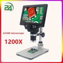 G1200 1200X Digitale Microscoop Voor Solderen Elektronische Video Microscoop 7Inch Lcd 12MP Continue Versterking Vergrootglas Tool