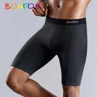 BONITOS mucho bóxer cortos calzoncillos ropa interior de hombre de los hombres del boxeador de los hombres ropa interior de algodón Natural suave cómodo de la marca superior de alta calidad
