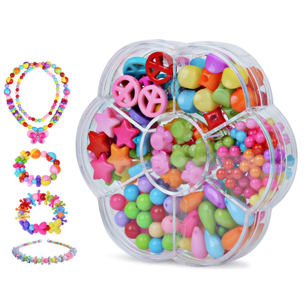 1Set Lacing Beads Toy DIY Handwork Beads Set Educational Toy Kids Toy Handmade Beads Crafts Toy For Kids