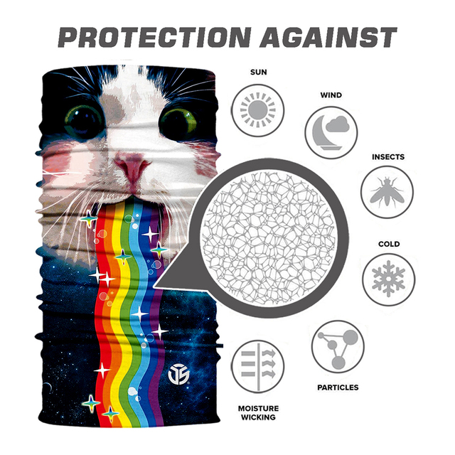 3D Galaxy Print Seamle Balaclava Scarf Neck Warmer Neck Gaiter Half Face Cover Head Bandanas Shield Headband Headwear Men Women 2