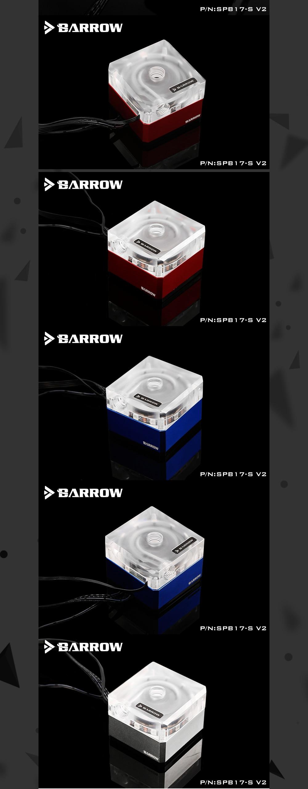 Barrow SPB17-S-V2, 17W PWM Pumps, LRC 2.0, DDC Series, Metal Shell, Manual And PWM Speed Control Water Cooling Pump