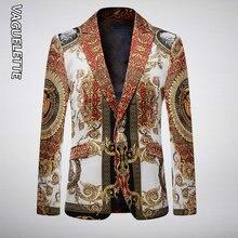 Vaguelette роскошный золотой и черный сценический пиджак для