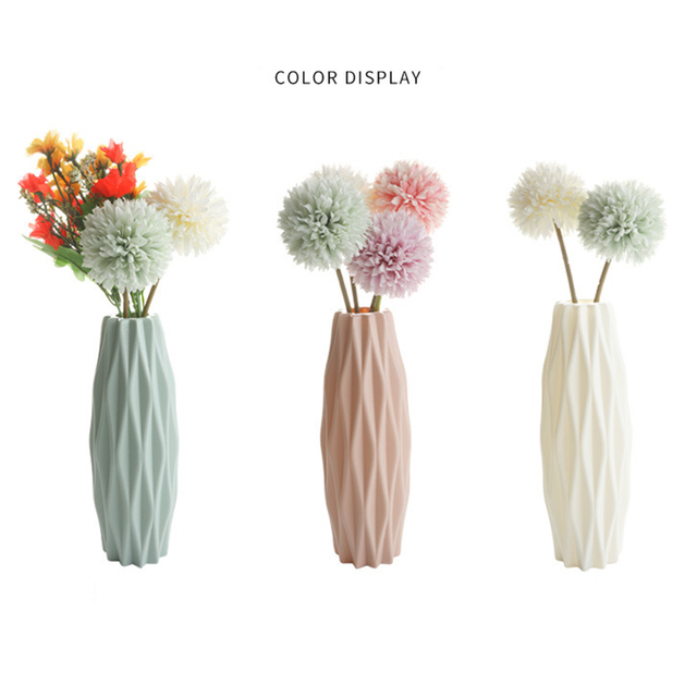 Modern vases decoration home Nordic Style Flower Arrangement Living Room Origami flower pot for interior 4