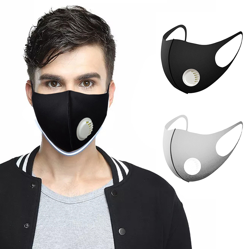 In Stock Mouth Masks Outdoor Dust-proof Air Pollution Protector Face Masks Black Grey Waterproof Masks For Adult