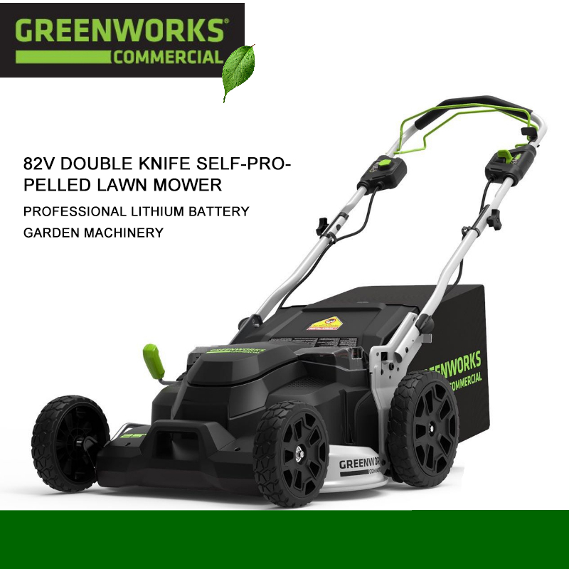 Greenworks Garden Lawn Mower Lithium Battery Electric Push-Type Grass Weeder Collector 82V 1000V Profession Garden Tools