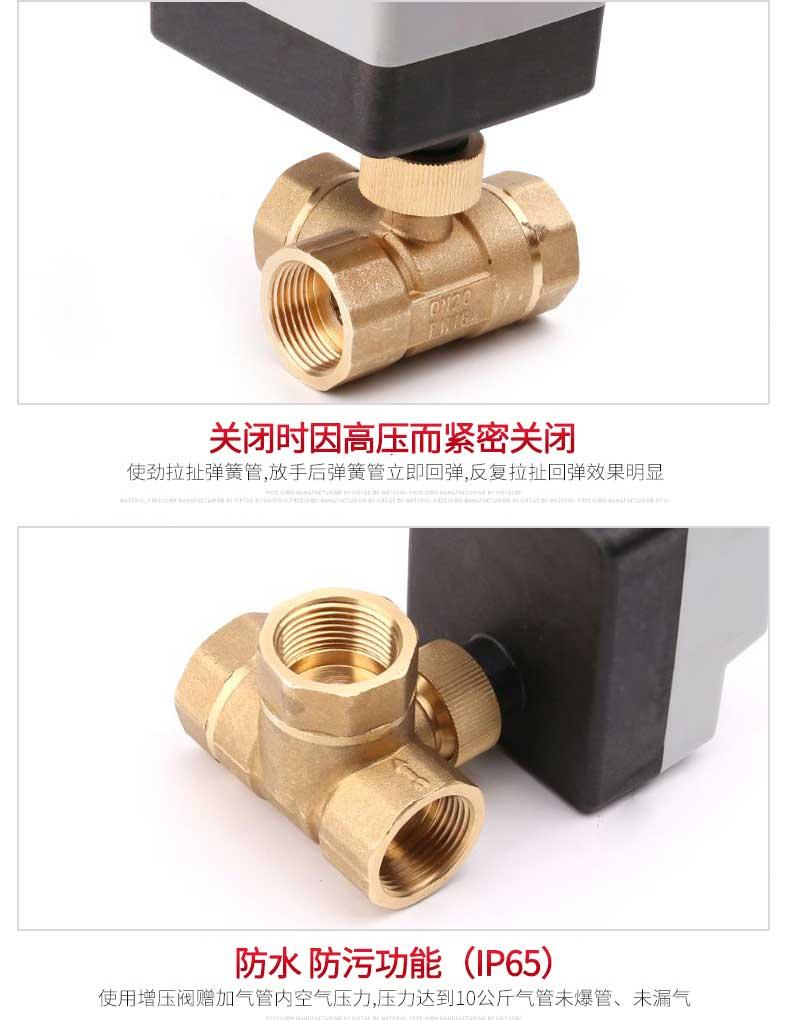 Ac220v 3-way válvula de esfera motorizada elétrica