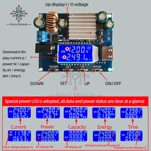 Buck Converter Step-down Power Module Adjustable Step-down Power Supply Module Constant Voltage Constant Current 12V to 9V 24V