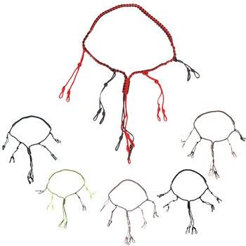R01 الصيد بطة دعوة الحبل الحبل صياد لعبة دعوة الحبل طُعم للصيد حبل مع 12 حلقات قابل للتعديل البرية الطيور صافرة حبال