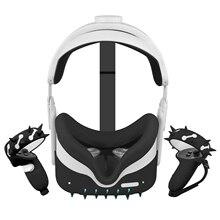 Funda de protección 5 en 1 de 360 ° para todo el cuerpo, accesorios de protección VR, funda de agarre y correa para nudillos, máscara para ojos, carcasa para Oculus Quest 2