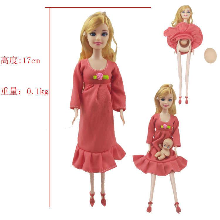 ของเล่นครอบครัว 3 คนตุ๊กตาชุด 1 แม่/เด็ก Son/1 เด็กจริงตั้งครรภ์ตุ๊กตาของขวัญ