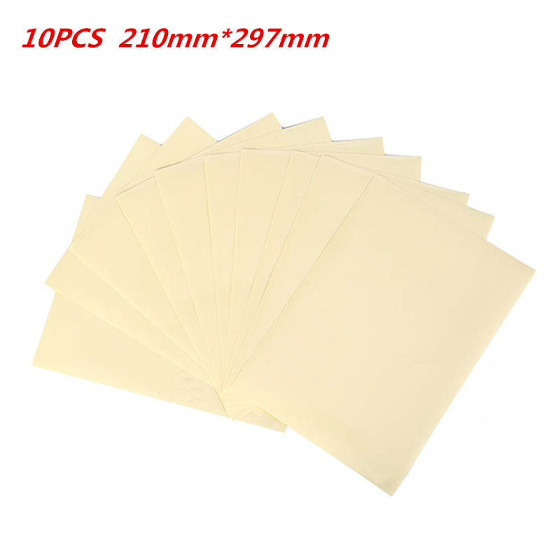 10 Sheets PET Transparent Film Sheet Self Adhesive Sticker Paper Clear A4 Vinyl Film Label Sticker For Laser Printer