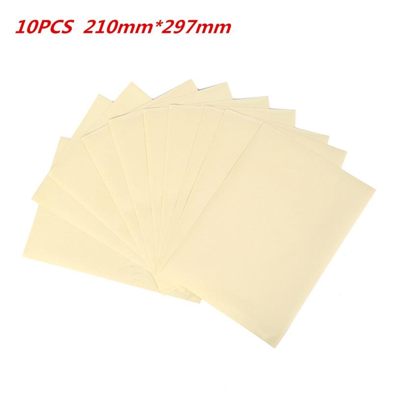 10 Sheets PET Transparent Film Sheet Self Adhesive Sticker Paper Clear A4 Vinyl Film Label Sticker For Laser Printer