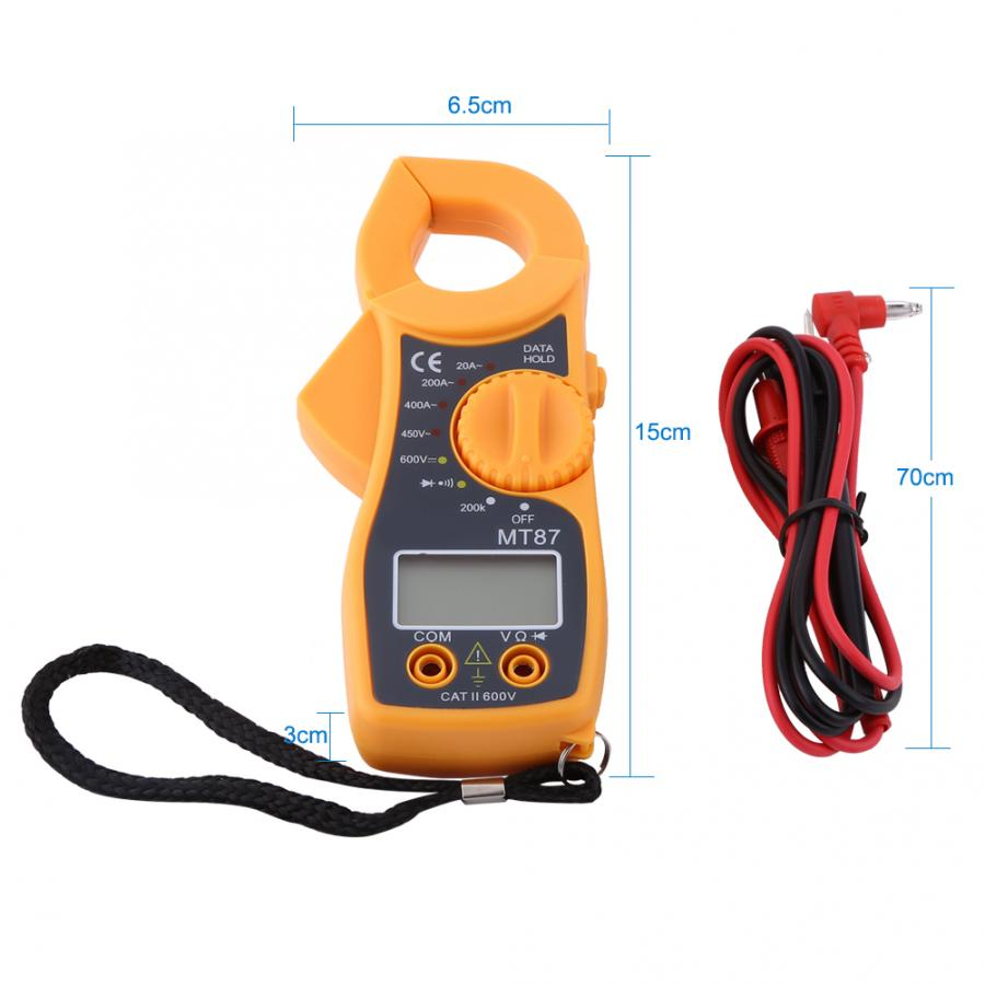 Digital Clamp Meter AC DC Voltmeter Auto Range Volt Ohm Amp Tester US Digital Multimeter