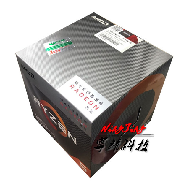 AMD Ryzen 5 3400G R5 3400G 3.7 GHz Quad Core Eight Thread 65W CPU Processor L3=4M YD3400C5M4MFH Socket AM4 New and have fan
