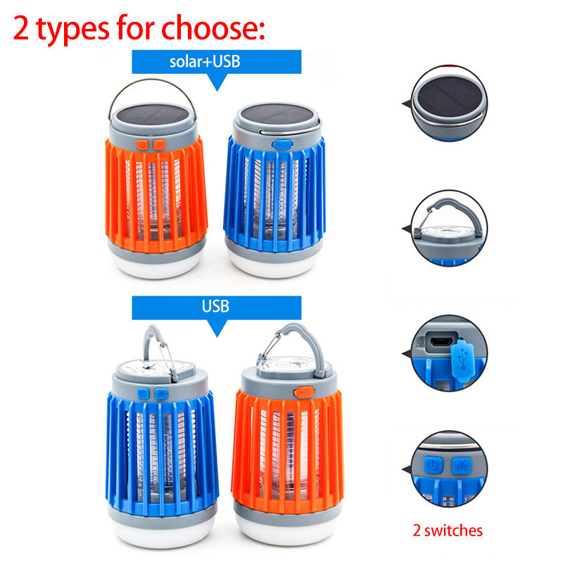 Image 3 - 2 in1 LED USB Solar power Mosquito Killer Lamp protable Lantern Outdoor Repellent light Insect Bug mosquito Trap moskito camping-in Mosquito Killer Lamps from Lights & Lighting