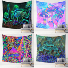 Psychedelic Tapestry Mushroom Series Macrame Printed wall tapestry  Art Home Decoration Of Tapestry Wall Hanging hot sale large adventure theme wall hanging tapestry home decoration wall tapestry tapiz pared 1750mm 1750mm
