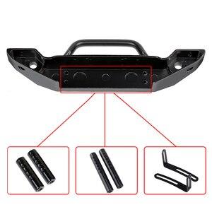 Image 3 - Черный металлический передний бампер с буксировочным крючком для 1:10 радиоуправляемого гусеничного автомобиля Axial SCX10 90046 SCX10 III AXI03007 Traxxas TRX 4