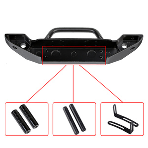 Image 3 - Black Metal Front Bumper with Tow Hook for 1:10 RC Crawler Car Axial SCX10 90046 SCX10 III AXI03007 Traxxas TRX 4
