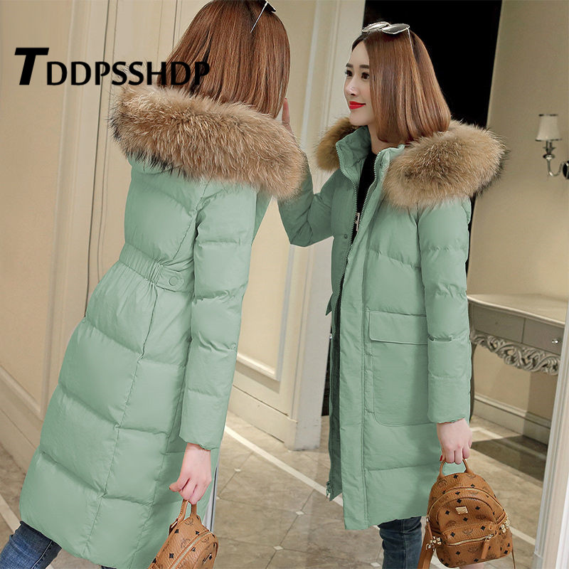 2019 Winter New Korean Slim Women Parkas M 3XL Size Female Coat
