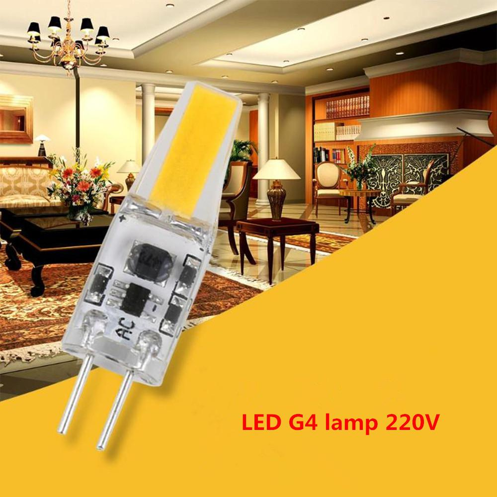 TWISTER.CK G4 LED Bulb 3W 12V DC 220V AC LED COB Bulb Replace Halogen Lamp High Bright For Chandelier