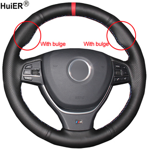 Hand SewIing Car Steering Wheel Cover Volant For BMW F10 2009-2017 F11 (Touring) F07 (GT) F12 F13 F06 F01 F02 Car Accessories(China)