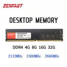 RAM Desktop ZENFAST DDR4 4GB 8GB 16GB 32GB Memoria DDR4 2133 2400 2666Mhz Memoria Ram DDR4 Dimm 288 Pin 1.2V ad alte prestazioni