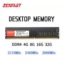 ZENFAST DDR4 Desktop 4gb 8GB 16GB 32GB Memory 2133 2400 2666MHz Memoria Ram Dimm 288-Pin 1.2V High Performance