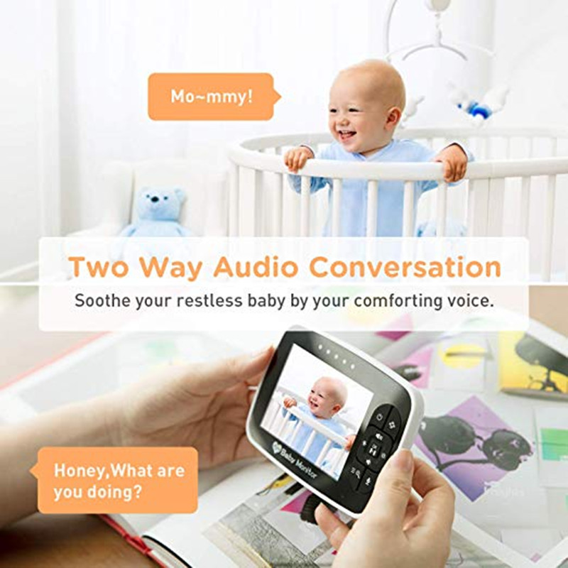 High Resolution Baby Monitor Infrared Of Night Vision To Baby Sleeping Monitor with Remote Camera 5