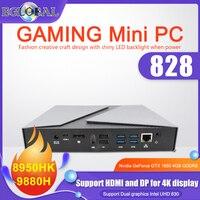 新しいゲームミニpcインテルcore i9 i7-9750H i5-9300H geforce gtx 1650 4ギガバイト2 * DDR4デスクトップpc Windows11 4 hdmi dpタイプcビデオカード