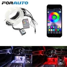 원격 제어 주변 램프 RGB LED 스트립 빛 유연한 EL 와이어 자동 장식 빛 자동차 분위기 램프 자동차 인테리어 조명