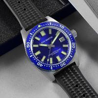 サンマーティン 62Mas ダイビング自動機械式メンズ腕時計ステンレス鋼 NH35 セラミックベゼルサンレイダイヤルゴムミネラルガラス -