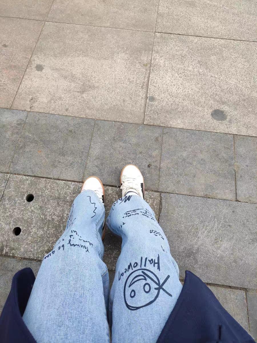 Harajuku Streetwear High Waist Jeans photo review