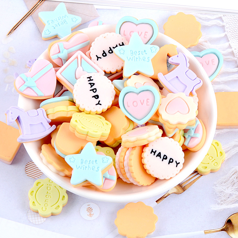 Biscuit refrigerator magnet, Trojan horse refrigerator magnet, love cookie refrigerator magnet, cute star blackboard sticker