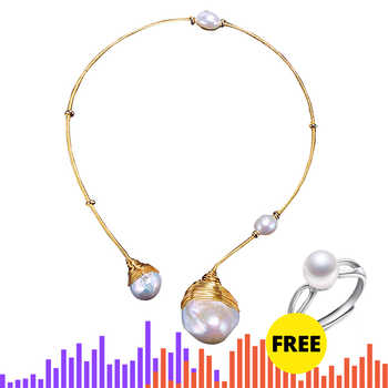 DAIMI Luxury Collares Huge Baroque Pearl Handmade Jewelry Choker Pearl Necklace collares de moda 2019 - DISCOUNT ITEM  49% OFF All Category