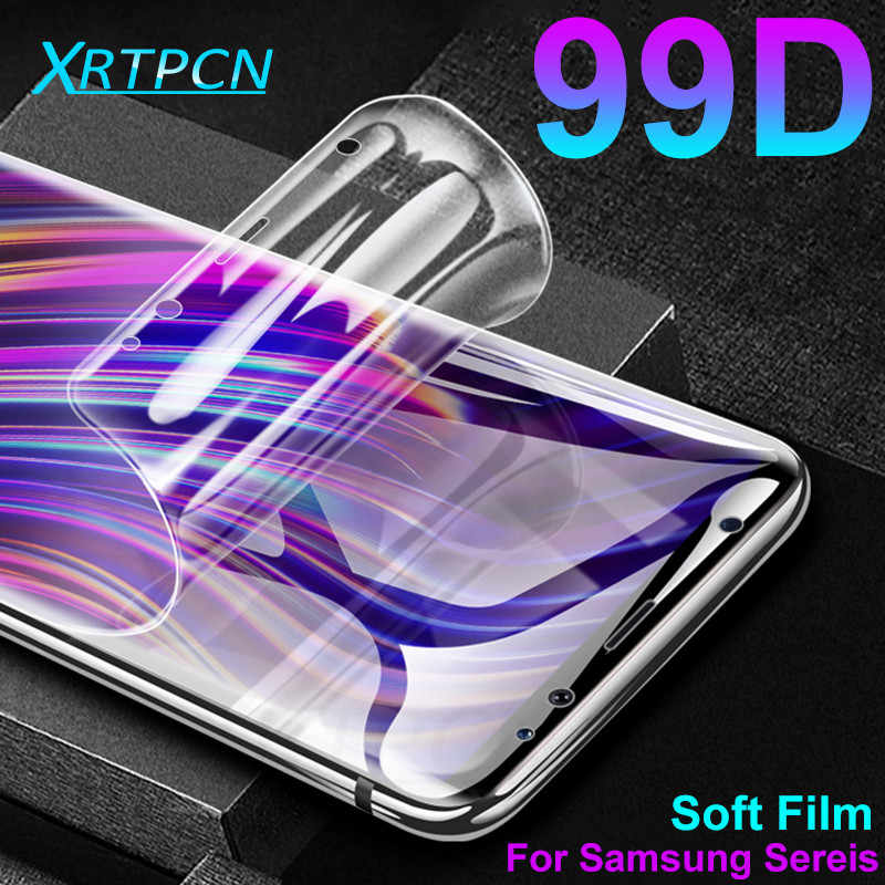99D هيدروجيل غشاء واقي لسامسونج غالاكسي S8 S9 S10 زائد S10E S10 S7 حافة ملاحظة 8 9 شاشة مرنة طبقة رقيقة واقية لا الزجاج