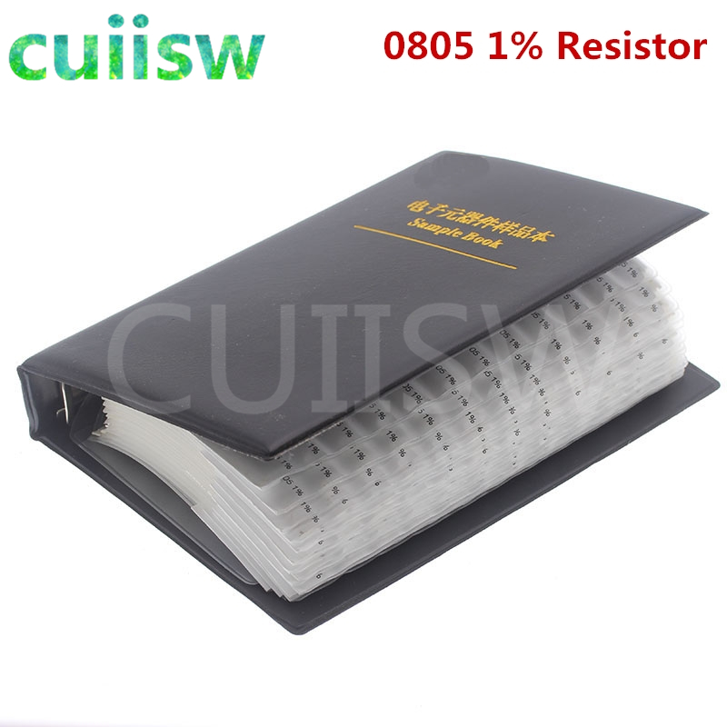 0805 SMD флэш-книга 1% Допуск 170valuesx50 шт = комплект резисторов 8500 шт 0R ~ 10 м