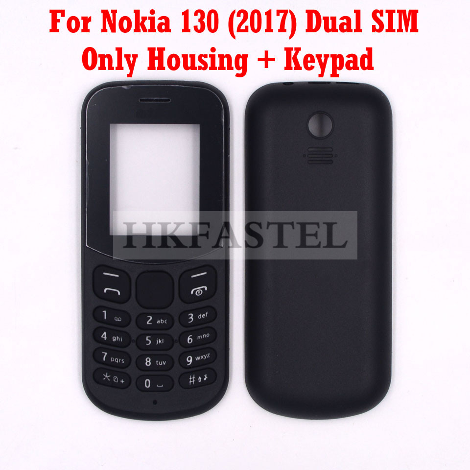 HKFASTEL High Quality Housing keyboard For <font><b>Nokia</b></font> <font><b>130</b></font> 2017 Dual SIM New Mobile Phone <font><b>Cover</b></font> Case + Keypad image