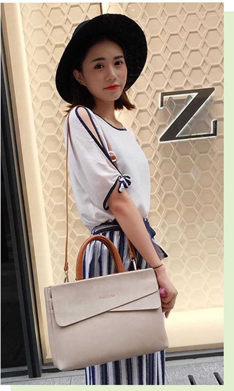 Fashion Women's Bag 2020 New Computer Bag Korean Fashion Business Shoulder Shoulder Bag Messenger Bag Handbag Briefcase