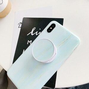 Image 4 - Sevimli katlanır cep telefonu için standı tutucu iPhone X XR 11Pro için Huawei için xiaomi için Samsung telefon kılıfı kavrama Kichstand