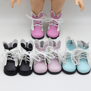 Cute Rabbit Dolls Boots for 16 inch Sharon Doll Baby Born Shoes gril Dolls Accessories Reborn Toys Mini Shoes(China)