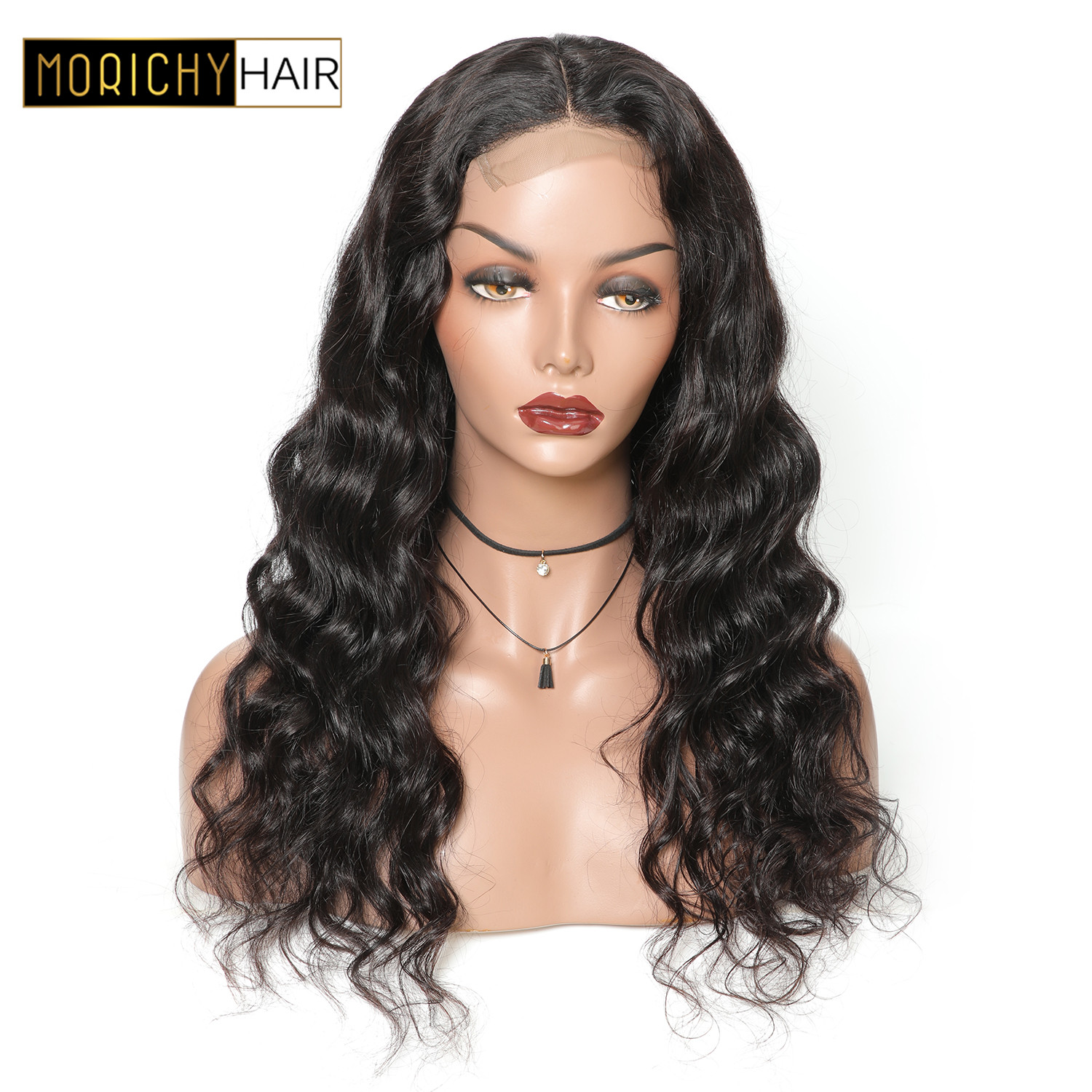 MORICHY Human Hair Lace Frontal Wig Brazilian Body Wave Wig for Black Women Non Remy Bob
