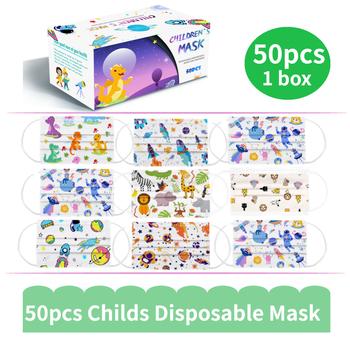 Szybka dostawa 50 sztuk dziecko maska pudełko dziecięca kreskówka maska jednorazowa 3 warstwy dziecko dziecko filtr higiena zagęścić maska do pielęgnacji twarzy i ust tanie i dobre opinie LovelyDaisy Chin kontynentalnych Personal NONE Jeden raz Disposable Mask Disposable Face Mask Kids Disposable Face Mask