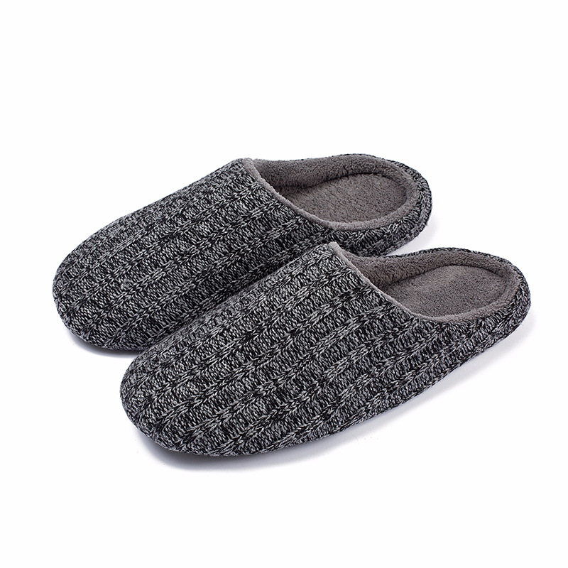 Cozy Memory Foam Slippers Fuzzy Wool-Like Plush Fleece Lined Women Men House Shoes Indoor Outdoor Anti-Skid Rubber Sole