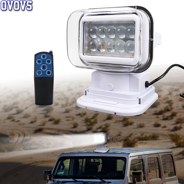 7 Inch 50W Led Remote Control Light Wireless Magnets Search Light Camp Hunting Fishing Boat Marine 4x4 Offroad Work Lamps 1Pcs
