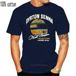 Ayrton Senna T-Shirt Vintage World Championship