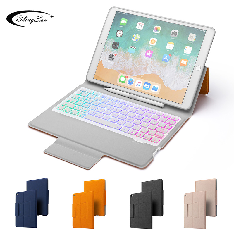 Keyboard Case for iPad 10.2 2019 Smart Cover for Apple iPad 7th Generation A2200 A2198 Wireless Backlit Keyboard Stand for iPad7 image